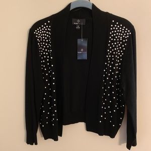 Ronni Nicole Black Bolero Cardigan Size M NWT